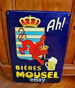Plaque émaillée Bières Mousel'Ah!' Luxembourg