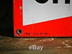Plaque émaillée Bougies CHAMPION 1951 46x96 cms