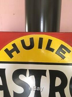Plaque émaillée CASTROL huile pour moteurs circa 1935 émail JAPY