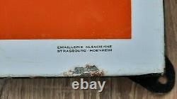 Plaque émaillée CHOCOLAT POULAIN 97 X 97 CM