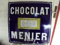 Plaque émaillée Chocolat MENIER 60 X 60 Japy frères