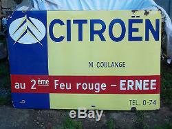 Plaque émaillée Citroen Enamel plate Citroën