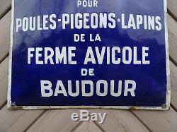 Plaque émaillée DEPOT BAUDOUR 1929