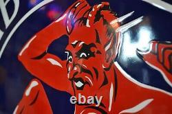 Plaque émaillée DIABOLINE essence 70 cm enamel sign email