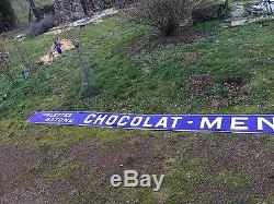 Plaque emaillee Enseigne d Epicerie Chocolat Menier rare