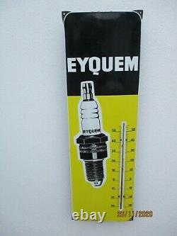 Plaque emaillee Eyquem thermometre publicitaire bougie eyquem vintage pub