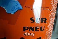 Plaque émaillée GOODRICH Sécurité pneu enamel sign emailschild