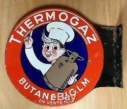 Plaque émaillée Gaz Thermogaz avec un Cuisinier