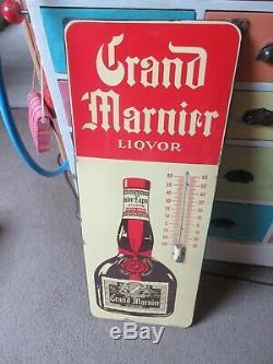 Plaque émaillée Grand Marnier thermomètre