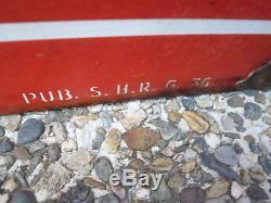 Plaque émaillée HUILES RENAULT circa 1936