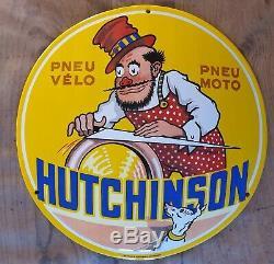 Plaque émaillée Hutchinson daprès Mich 1930 EAS CADEAU DE NOËL
