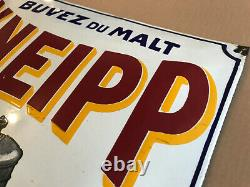 Plaque émaillée KNEIPP vers 1910 MALT Emailleschild Nestlé Kub Maggi
