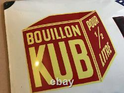 Plaque émaillée KUB Bouillon comme Maggi TOP 1938