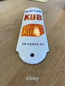 Plaque emaillee KUB Bouillon propreté
