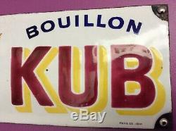 Plaque émaillée KUB rare petit modèle