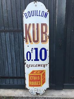 Plaque emaillee Kub modèle rare