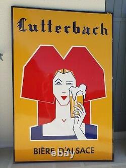 Plaque émaillée LUTTERBACH bière d'alsace