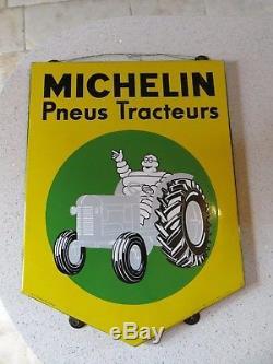 Plaque émaillée MICHELIN TRACTEUR