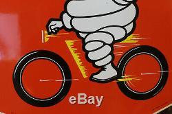 Plaque émaillée MICHELIN vélo état neuve, mint, clermont-ferrand