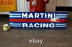 Plaque émaillée Martini racing stuttgart porsche 1m enamel sign emaischild