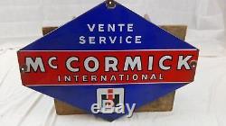 Plaque émaillée McCORMICK International IH/collection garage/old garage sign/