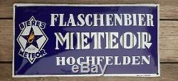 Plaque emaillee Meteor flaschenbier Hochfelden