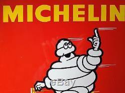 Plaque emaillée Michelin vélo