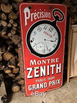 Plaque emaillee Montres Zenith