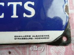Plaque émaillée NEOLAIT Veaux-Porcelets aliments des jeunes Emai STRASBOURG