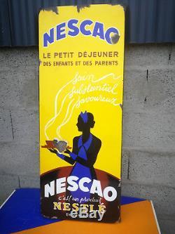 Plaque emaillée NESCAO nestlé emaillerie alsacienne