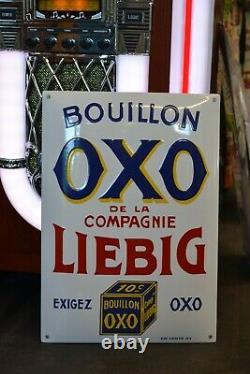 Plaque émaillée OXO LIEBIG Bouillon enamel sign