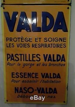 Plaque emaillee PASTILLES VALDA