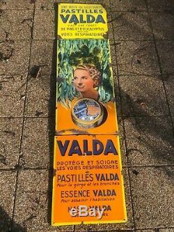 Plaque emaillee PASTILLE VALDA