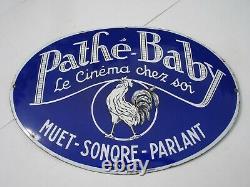 Plaque émaillée PATHE BABY