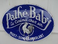 Plaque émaillée PATHE BABY 1925