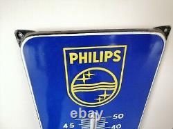 Plaque émaillée PHILIPS thermomètre 1951-59