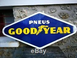 Plaque émaillée PNEUS GOODYEAR E. A. S 75x150 Cms No michelin, dunlop, pirelli