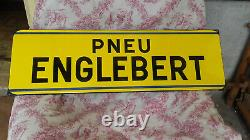 Plaque émaillée PNEU ENGLEBERT fabriquée par émaillerie Strasbourg-Hoenheim