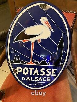 Plaque emaillee Potasse D Alsace 60x43 Cm