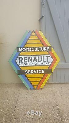 Plaque émaillée Renault Motoculture Service EAS TRACTEUR