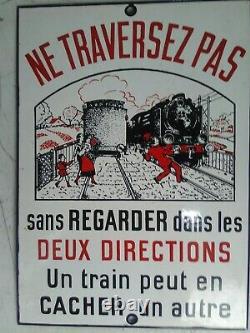 Plaque émaillée SNCF ancienne