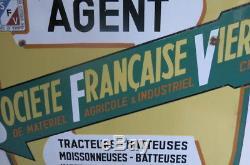 Plaque émaillée SOCIETE FRANCAISE VIERZON TRACTEURS