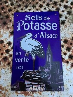 Plaque émaillée Sels De Potasse dAlsace 1920 Ed. Jean