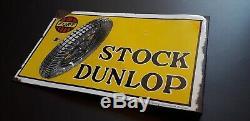 Plaque émaillée Stock Dunlop, emailschild Rhenania Emaillierwerke, Düsseldorf