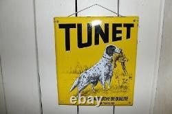 Plaque émaillée TUNET, idéal deco, loft, chasse