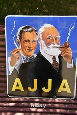 Plaque émaillée Tabac AJJA 1952