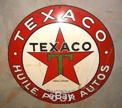 Plaque emaillee Texaco ancienne
