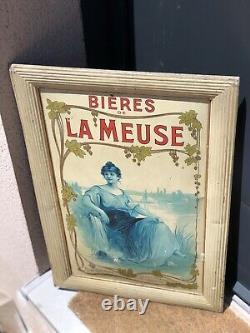 Plaque emaillee Tôle Peinte La Meuse
