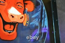 Plaque émaillée VACHE QUI RIT potence double face enamel sign emailschild