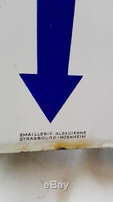 Plaque émaillée WONDER double face Blason/flèche en vente ici/old garage sign/